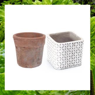 cache-pots en ciment