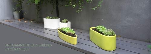 Jardinières en céramique