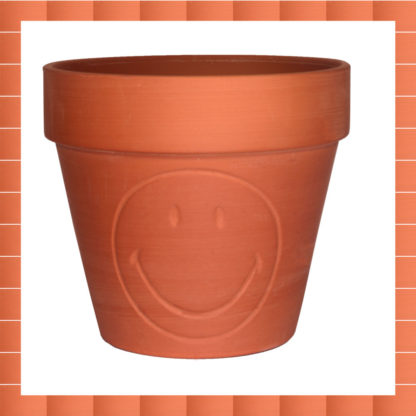 Pot Smiley : terracotta
