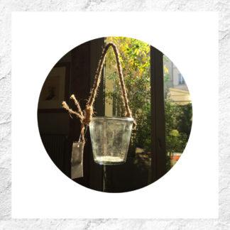 Vase suspendu en verre